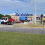 PUERTO QUEQUÉN: Comienza el traslado de los aerogeneradores hacia el Parque Eólico de Miramar