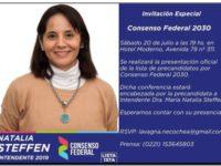 ELECCIONES 2019: Figuras nacionales y provinciales participarán del lanzamiento de Natalia Steffen