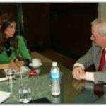 """BUENOS AIRES: """"Scioli tiene a su gobierno trabajando para el sector agropecuario"""", dijo Giorgi."""
