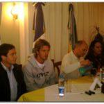 NECOCHEA: Eduardo Otero llegó de Beijing y brindó una conferencia junto a Gerónimo Venegas y Gastón Guarracino.