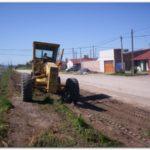 NECOCHEA: Tareas en calles de tierra y trabajos de bacheo.