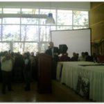 """MOLINA: """"Compañero Moyano"""", comenzó su discurso el Intendente Radical y Presidente del Foro de Intendentes Radicales de Buenos Aires."""
