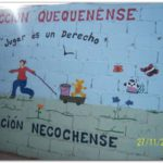 QUEQUÉN: Un mural hecho por los chicos