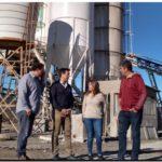 PUERTO QUEQUÉN: Arturo Rojas visitó la planta hormigonera de Logística Transportadora