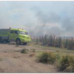 NECOCHEA: Gran incendio en el que se trabajó ayer sábado desde las 11 de la mañana