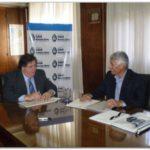 LA PLATA: Reunión del Secretario de Salud de Necochea Dr. Juan Carlos Barrera en el Ministerio de Salud