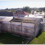 QUEQUÉN: Comenzaron a techar el laboratorio del Hospital Irurzun