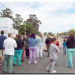 NECOCHEA: Los municipales protestaron en el Hospital «Ferreyra»