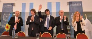 TANDIL: Boudou y Bossio inauguraron la biblioteca central de la UNICEN