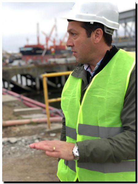 PUERTO QUEQUÉN: Recorrida de Arturo Rojas por las nuevas construcciones