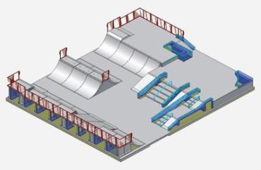 NECOCHEA: Una empresa local interesada en  la obra de skate park y remodelación de la plaza Isabel la Católica