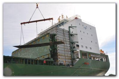 ASTILLERO RÍO SANTIAGO: Arribó el total del acero para la fabricación de dos grandes buques