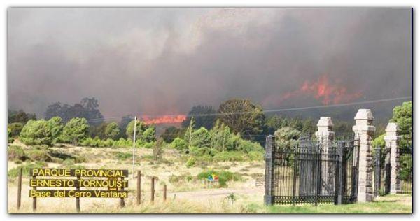 SIERRA DE LA VENTANA: El fuego ya arrasó 45 mil hectáreas y quedan varios focos activos