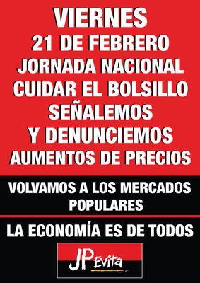 """POLÍTICA: Jornada nacional """"señalemos y denunciemos a los que aumentan los precios"""