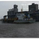 PUERTO QUEQUÉN: La draga de bandera china Hang Jun 4011 arribo para iniciar los trabajos de mantenimiento en el canal de acceso