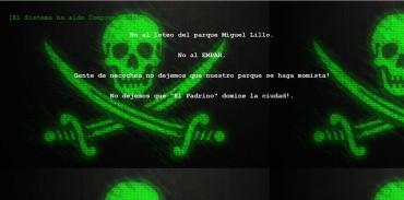 NECOCHEA: Hackeo a una página digital. Mensaje contra el loteo del Parque