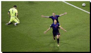 MUNDIAL 2014: Holanda golea a España
