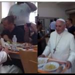 FRANCISCO almuerza en el comedor vaticano como un trabajador más