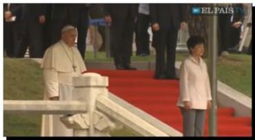 EL PAPA Francisco llega a Corea del Sur en su primera visita oficial a Asia