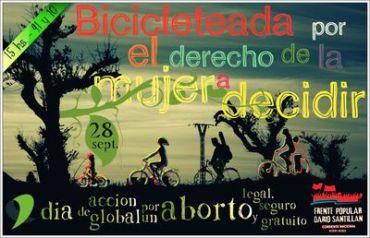 NECOCHEA: Bicicleteada por el Derecho de la Mujer a Decidir