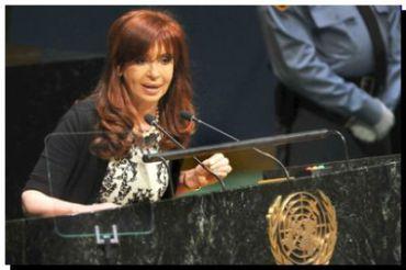 """CRISTINA EN LA ONU: """"También son terroristas los que desestabilizan la economía de un país a través de la especulación"""""""