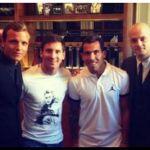 Tévez se juntó con Messi e Higuaín y se le abren las puertas de la Selección