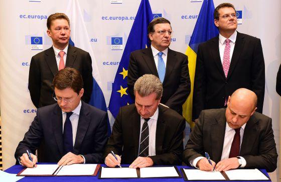 SOLUCIÓN: Rusia y Ucrania sellan el acuerdo para cerrar la guerra del gas