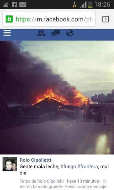 NECOCHEA: Se realiza el peritaje por el incendio en La Frontera