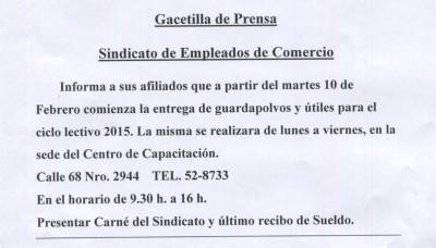 PRENSA UTILES ESCOLARES-2015