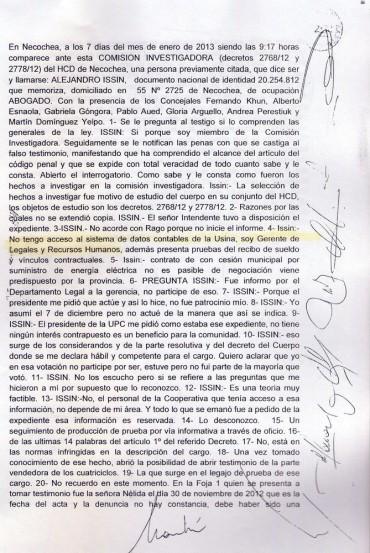 NECOCHEA: Alejandro Issin aceptó que es Gerente de la UPC