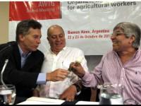 Macri y Moyano en la escuala Lorenzo Miguel Foto Anibal Greco