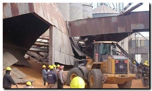RAMALLO: Muere un trabajador al explotar un silo
