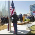 CUBA: Kerry izó la bandera de EEUU en la embajada en La Habana tras más de 54 años
