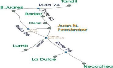 JUAN N. FERNÁNDEZ: Pavimentación de la Ruta 80. Imprescindible