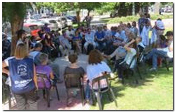 Carpa docente y conferencia de prensa de CONADU Histórica frente al Ministerio de Educación