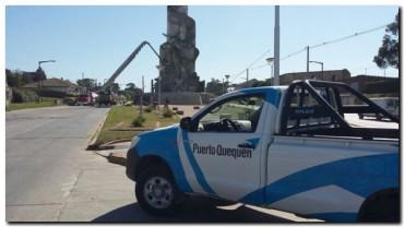 PUERTO QUEQUÉN colabora con el Monumento Gesta de Malvinas