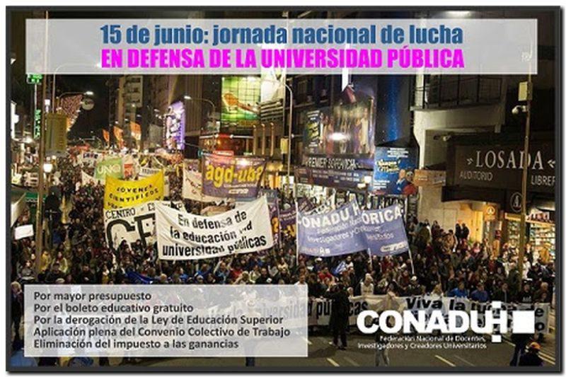 Jornada nacional de lucha en defensa de la Universidad y la Educación Públicas