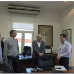 Rojas con el Subsecretario de Actividades Portuarias y los Presidentes de los Consorcios