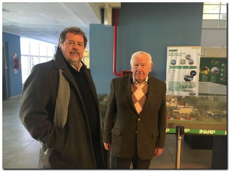 Elustondo visitó INVAP Argentina y la Comisión Nacional de Energía Atómica
