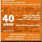 Memoria local. Delitos de lesa humanidad: Necochenses secuestrados en Bahía Blanca