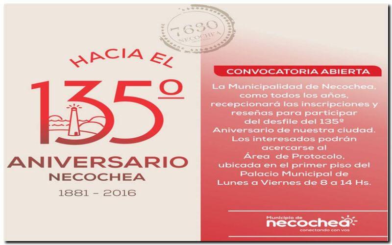 Ya se pueden inscribir para el desfile del 135º aniversario de Necochea