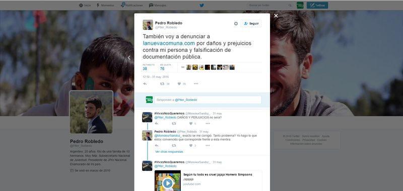 Pedro Robledo perdió contra La Nueva Comuna de Necochea y otros sitios