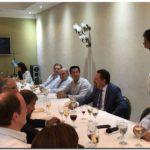 Arturo Rojas en la cena de fin año del Consejo Portuario Argentino