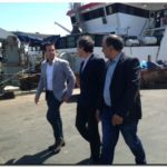 El Dr. Arturo Rojas junto al presidente de Puerto de Mar del Plata Martín Merlini