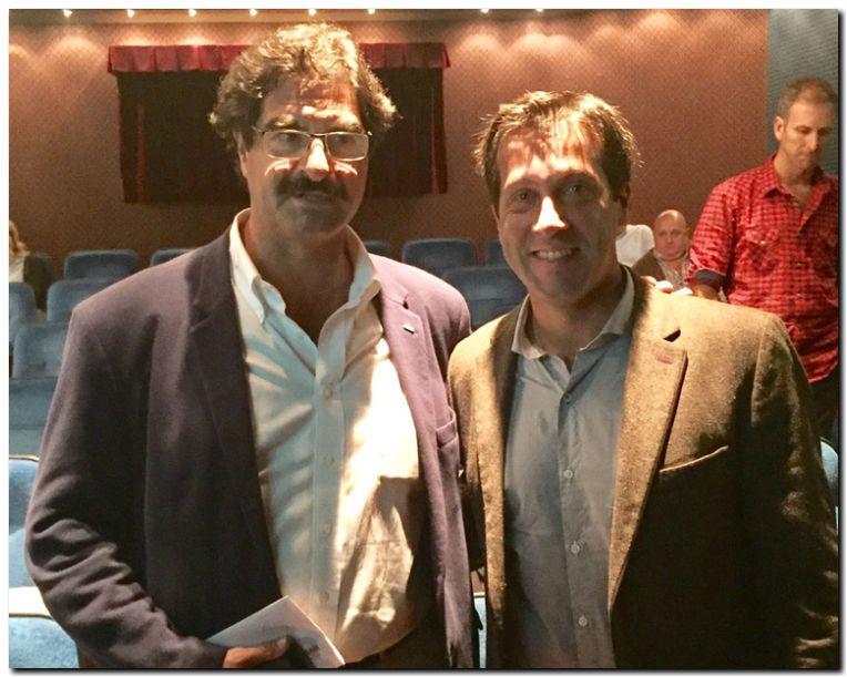 PUERTO QUEQUÉN: Arturo Rojas junto al Ministro de Agroindustria Leonardo Sarquis