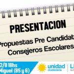ELECCIONES 2017: La Lista 4 de Unidad Ciudadana presenta sus propuestas educativas
