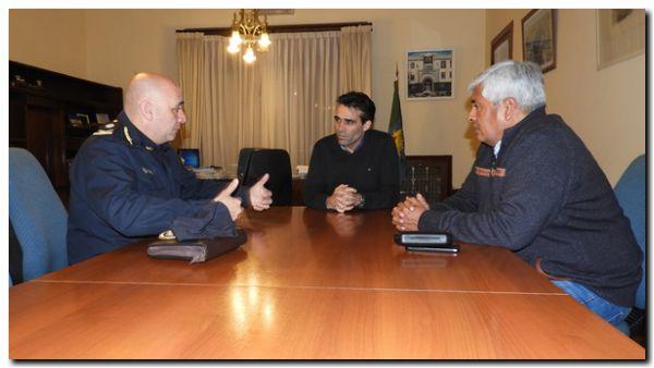 NECOCHEA: López recibió al nuevo jefe de la Departamental