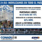 GREMIALES: La CONADU histórica se pronuncia contra los despidos, los techos a las paritarias, los tarifazos y el ajuste