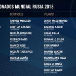 MUNDIAL 2018: Sampaoli confirmó los 23 jugadores de Argentina para Rusia 2018