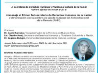 DERECHOS HUMANOS: Homenaje a Eduardo Rabossi